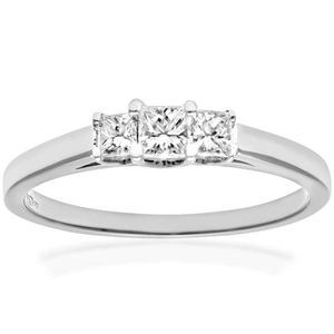 BAGUE - ANNEAU Revoni Bague Diamant Or Blanc 750° Femme: Poids du
