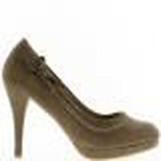 Escarpins femme taupe strass à talon de 10,5cm et patin avant   Marron - Achat / Vente escarpin
