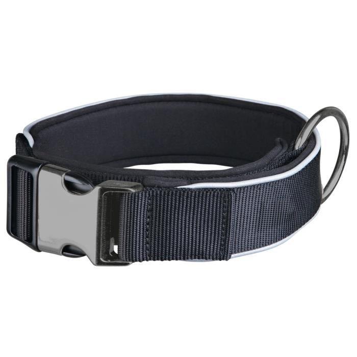 TRIXIE Experience Collier extra large M–L: 37–50 cm/30 mm noir pour chien