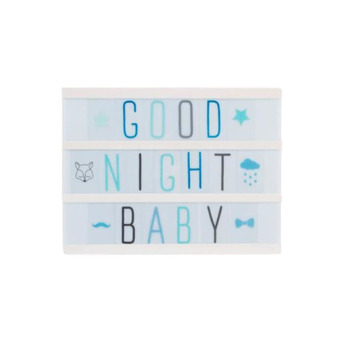 bo te led lumineuse messages a5 bleu achat vente bo te led lumineuse messa soldes d s. Black Bedroom Furniture Sets. Home Design Ideas