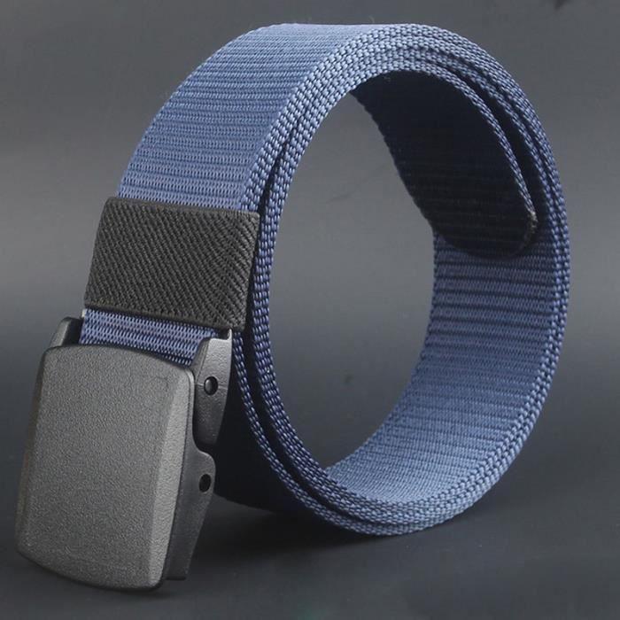 Sauvages-hommes-toile bleu ceinture-hypoallergénique métal-libre-plastique-automatique  boucle 4099a086b69