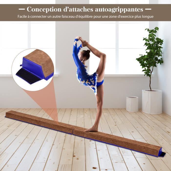 poutre d 39 equilibre 2 4 m poutre de gymnastique pliable. Black Bedroom Furniture Sets. Home Design Ideas