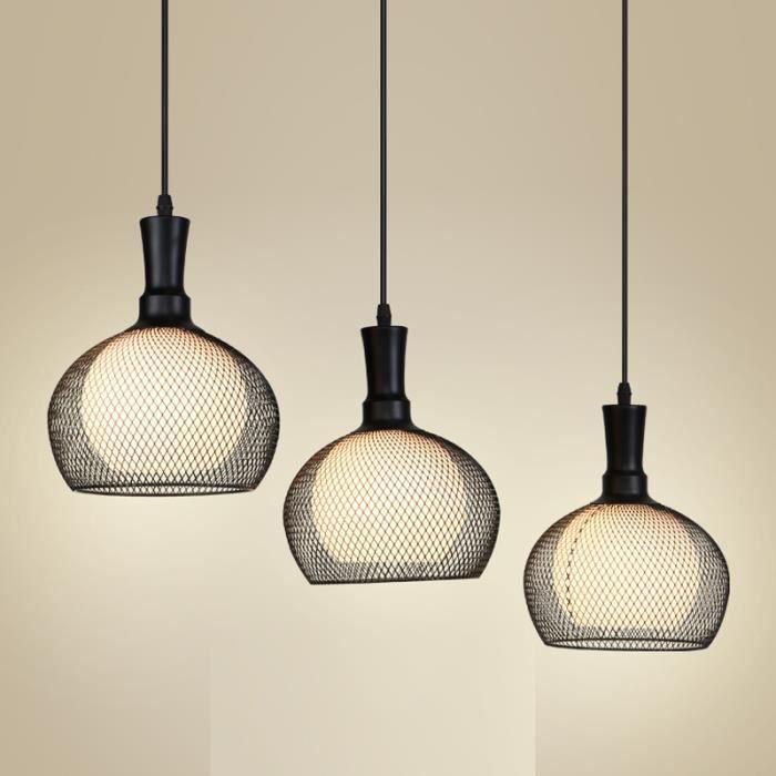 50cm jaune lustre rond moderne simple cr atif lampe suspension de salon chambre 3 ampoules en. Black Bedroom Furniture Sets. Home Design Ideas