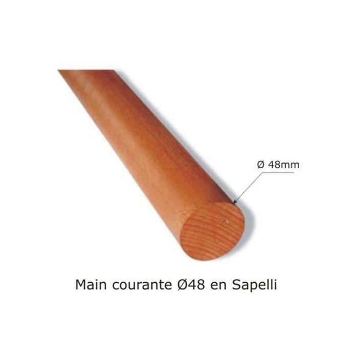 Main courante ronde bois 48 achat vente rampe main courante main courante ronde bois 48 - Main courante bois lapeyre ...