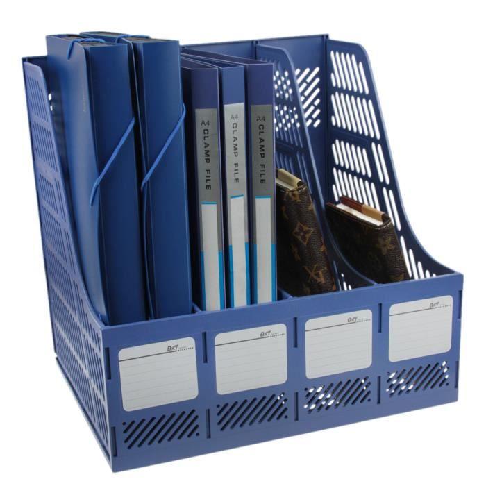 Boîte de Rangement Document Panier de Dossier pour Bureau étagère de Dossier Pour Papier A4 En ...