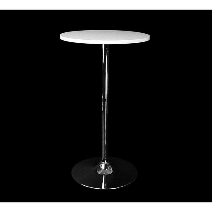 Table De Bar Blanche Ronde James Achat Vente Mange Debout Table