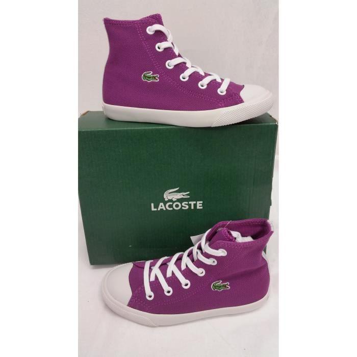 LACOSTE Basket Enfant Fille L27 Montantes Violet SmXL3O