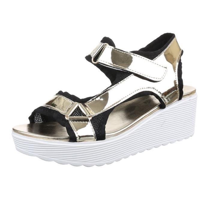 Plateau or chaussure Femme de sandale Femme Dianette chaussure wx1cgCq