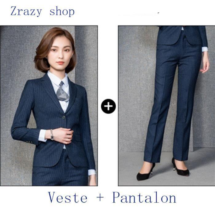 6c6d2e90f2d80 (Veste+Pantalon)Costume Femme Marque Luxe Veston de costume Femme Blazer Femme  Pantalon de costume Vêtements