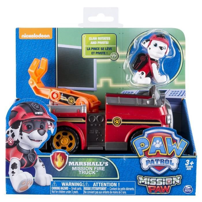 Truck Patrouille Vehicule Mission Fire Marshall's Pat Rouge m0nN8w