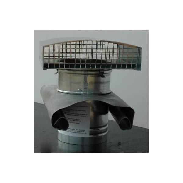 CHAPEAU METALLIQUE DE TOITURE D150 MM ARDOISE U… - Achat / Vente vmc - accessoires vmc CHAPEAU ...
