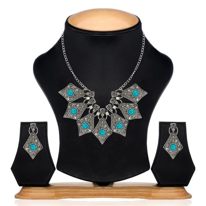 Zaveri perle noir antique Collier Junk Finement détaillée des femmes Set Pour -zpfk6456 S8GEM