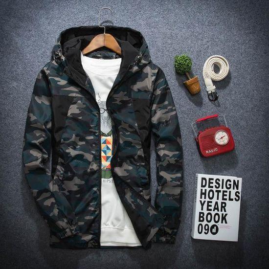 Camouflage Extérieur Homme D'hiver Imperméable Pour Manteau Coupe vent Soft Hoodie Vert Shell qS1W7