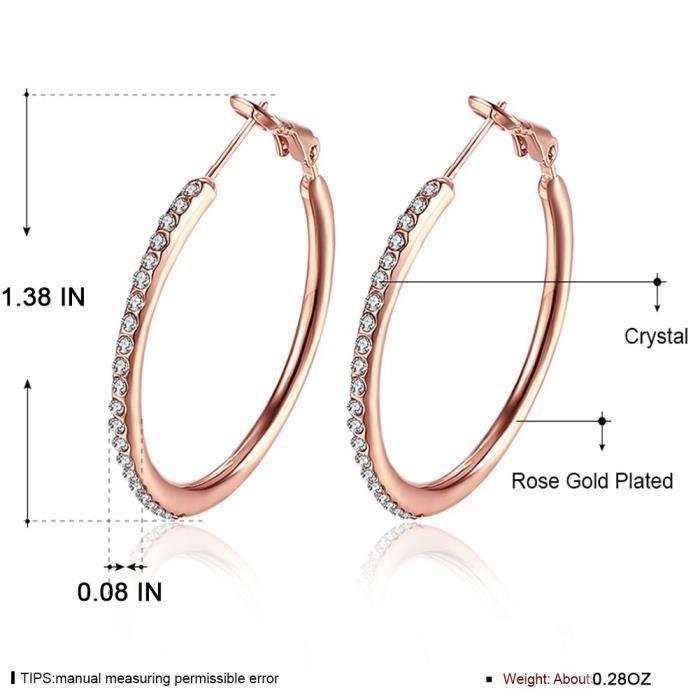 Womens Hoop Earrings, Stainless Steel Cubic Zirconia Earrings, Rhinestone Earings ( Not Allergie PS3OK