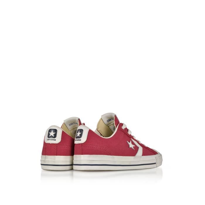 CONVERSE HOMME 160923C ROUGE TOILE BASKETS 20lc22W8