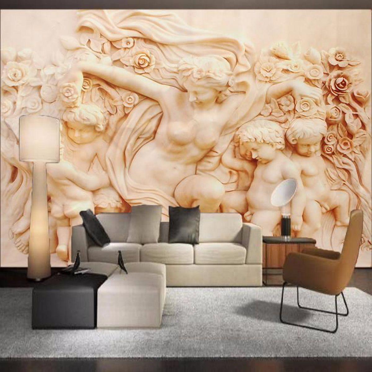 3d papier peint autocollant angel style romain mural art. Black Bedroom Furniture Sets. Home Design Ideas