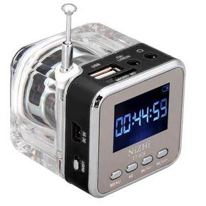 ENCEINTE NOMADE Mini carte USB MicroSD écran LCD Radio FM Lecteur