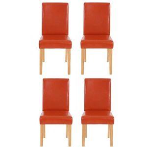 chaise lot de 4 chaises de salle manger simili cuir ora - Soldes Chaises