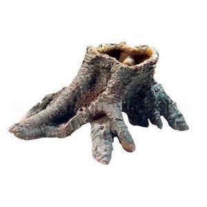 DÉCO ARTIFICIELLE Tronc creux d'ornement en résine pour terrarium…