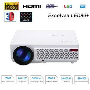 Vidéoprojecteur Excelvan 96+ Projecteur Portable 5.8'' HD Multiméd