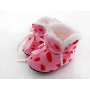 BABIES Chaussures Hiver épais imprimé léopard bébé chauss