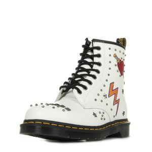 DERBY Boots Dr Martens 1460 Rockabilly White Smooth