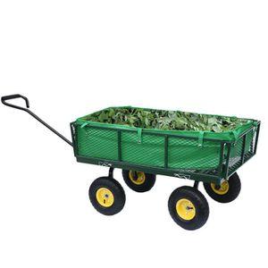 REMORQUE - CHARIOT brouette de roue de chariot de jardin de tout le t