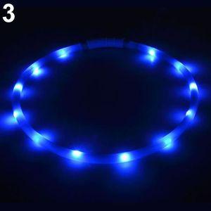 HARNAIS SPORT DE CHIEN Bleu USB Rechargeable LED Bande Lumineuse Clignota