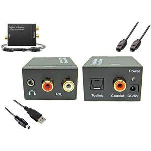 ADAPTATEUR AUDIO-VIDÉO  Convertisseur Audio Numérique SPDIF en analogique