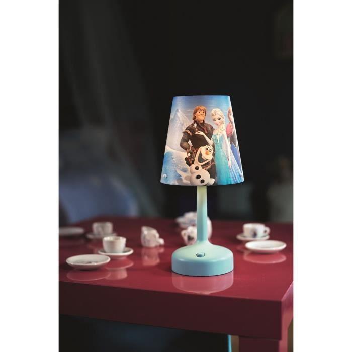 LA REINE DES NEIGES Lampe portable à piles 1 W bleu