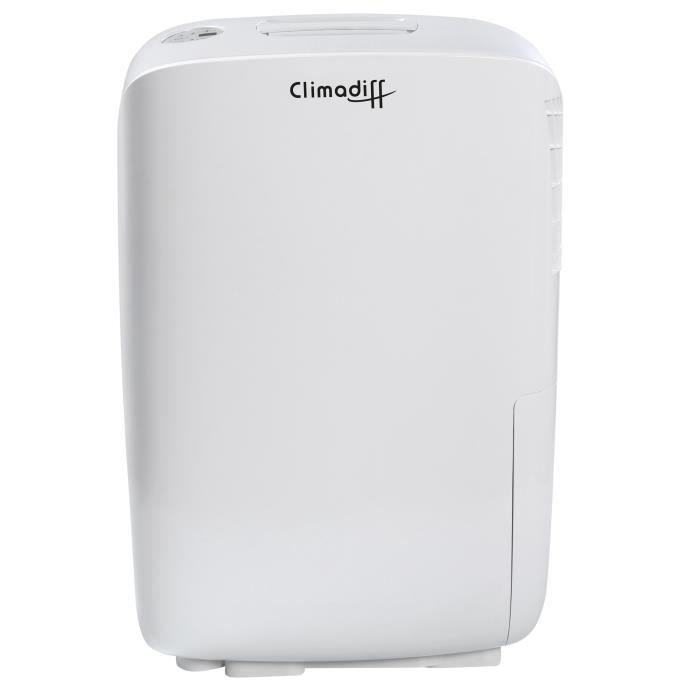 Puissance de refroidissement : 460 W - Pour une surface de 52 m² - Débit d'air extrait : 35 L/j.DESHUMIDIFICATEUR D AIR