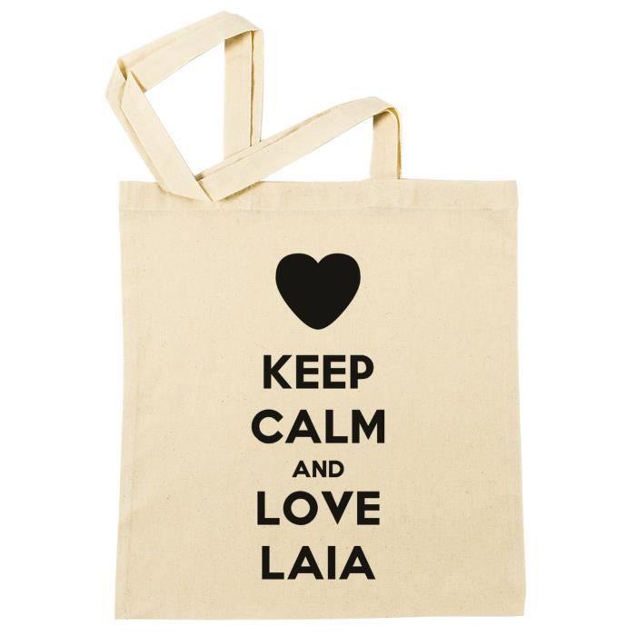 Sac à Provisions - Keep Calm And Love Laia  Plage Coton Réutilisable Shopping Bag Beach Reusable - B-29417 - B-29417