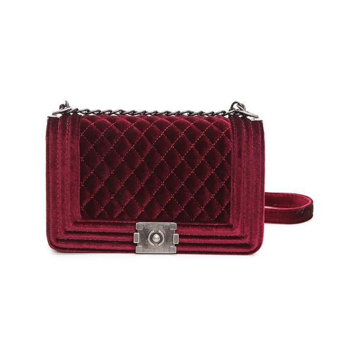 sac à main Diamant Lattice femmes Sacs célèbre Marque Designer PU en cuir chaîne Plaid femmes Sac à bandoulière-2824