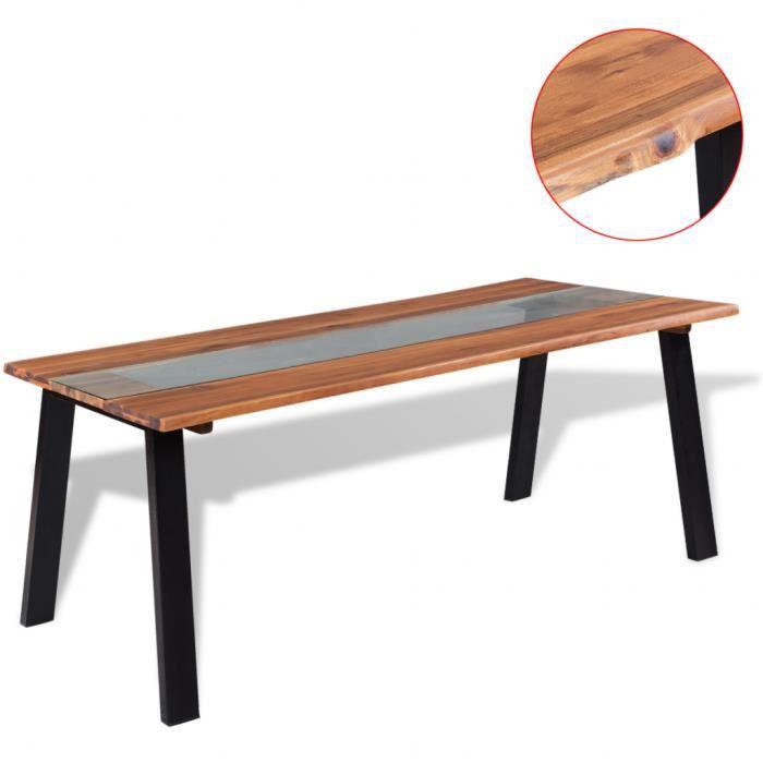 table bois et fer - achat / vente table bois et fer pas cher