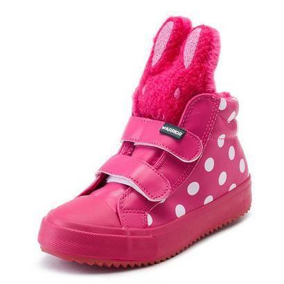Chaussures enfants nouvelles chaussures de filles chaudes chaussures bottes imperméables de bébé, rose rouge 27