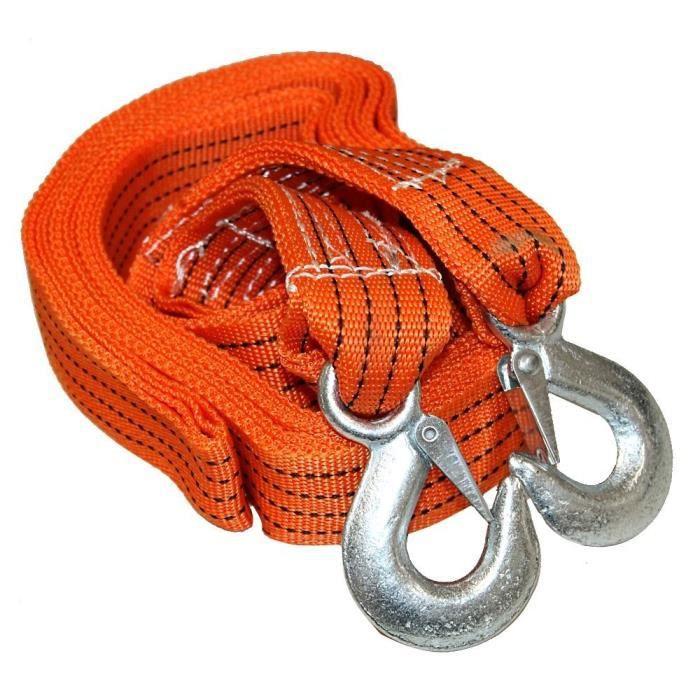 corde cable sangle de remorquage 3 tonnes 3 5m achat vente barre de remorquage corde cable. Black Bedroom Furniture Sets. Home Design Ideas