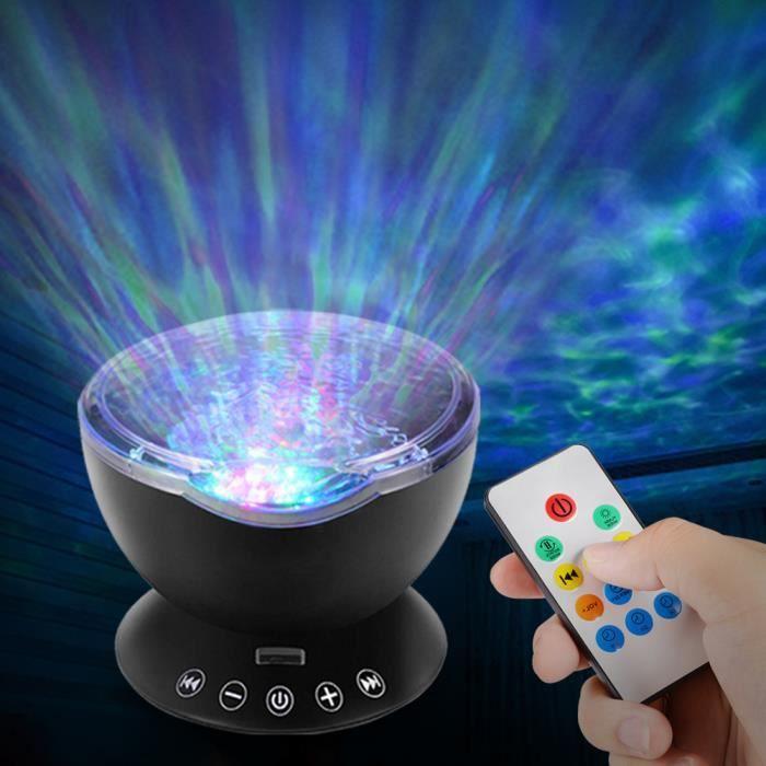 Télécommande Intégré Pour Projecteur La De Chambre Musique Avec Lampe Nuit Ciel noir D'océan Lecteur Et Vague wA1qgwTf7