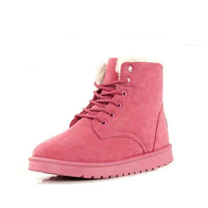 HEE GRAND Femme Fille Snow-boot Matelassé en Coton A Lacets r5wkcAPAhW