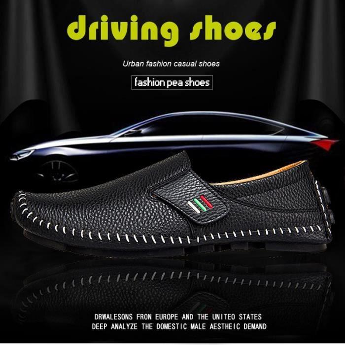 chaussure multisport pour Hommeblanc 6.5 Driving Mocassins confortables Ventiler Sport Chaussures Mode Chaussures de p_2112