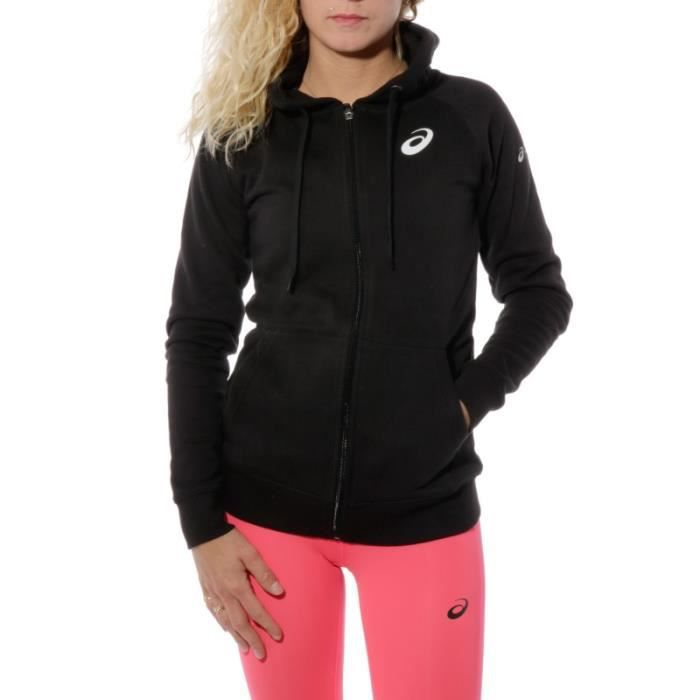 Femme Noir Sweat Running Marathon Paris Asics ZuTPOXki