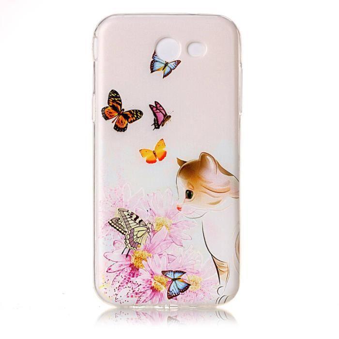 coque samsung j3 2017 papillon
