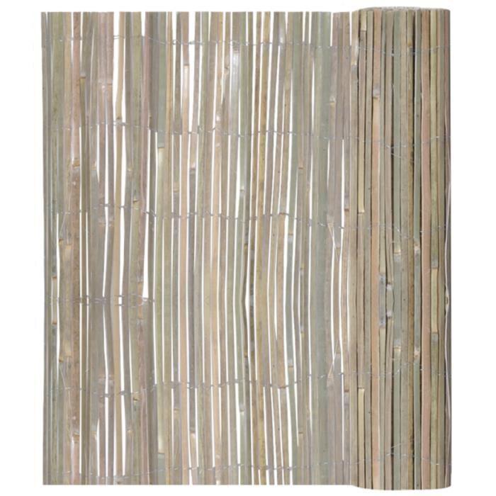 Clôture en bambou 150 x 400 cm - Achat / Vente clôture - barrière ...