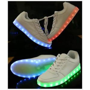 Chaussures LED Femme Homme USB Rechargeable 8 C... jHZzn0tN