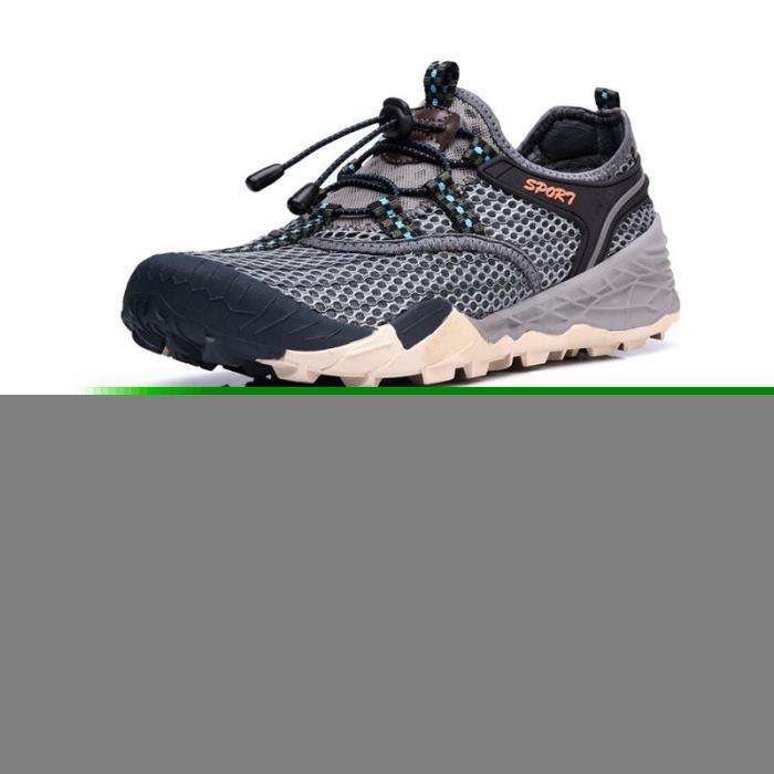 Baskets Homme Chaussure Jogging Sport léger Respirant Chaussures BLLT-XZ219Gris42