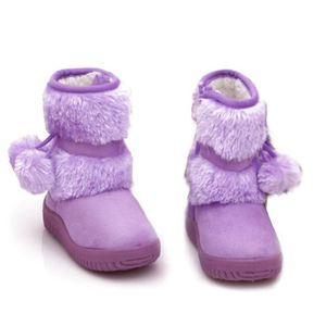 Hiver Bottes Enfants En Peluche Chaussures Filles Garçon Bottines DTG-XZ095Beige26 uOchsW