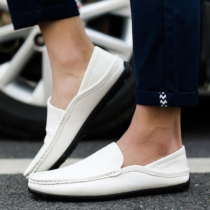 Chaussures De Bateau De Mode Homme Respirant De Mocassins Designer Plat En Cuir Souple Chaussures De Luxe Marque Ventes Chaudes iRKLrP9