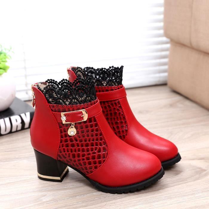 Bottes à fermeture à glissière Chaussures talon aiguilles Chaussures Boucles d'oreilles sexy à cheval xGosinB