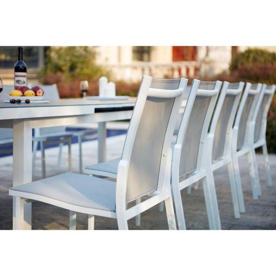 Moniga 10   table de jardin extensible 10 personnes avec 2 fauteuils et 8  chaises en aluminium - Achat   Vente table de jardin Moniga 10   table de  jardin - ... 4781b4b81717