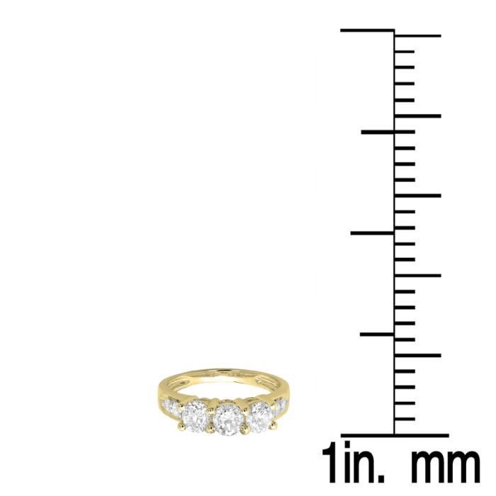 Bague Femme 1.33 ct14 ct 585-1000 Or Jaune Rond Diamants Bague Éternité