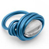 FIL - TOUR DE COU  Fil aluminium Ø 1,5 mm - 5 m - Bleu foncé mat -…